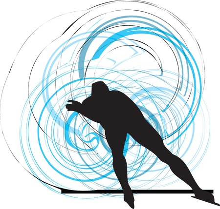 skater on ice Vector