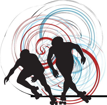 to skate: Patinador ilustraci�n