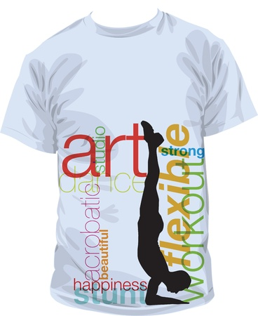 sport wear: tee illustration Illustration