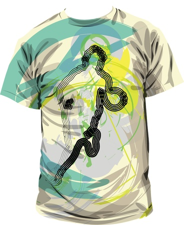 t  shirts: T ilustraci�n Vectores
