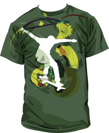 tee shirt: tee illustration Illustration
