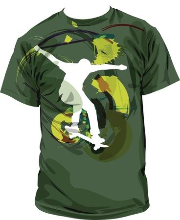 tshirt: tee illustration Illustration