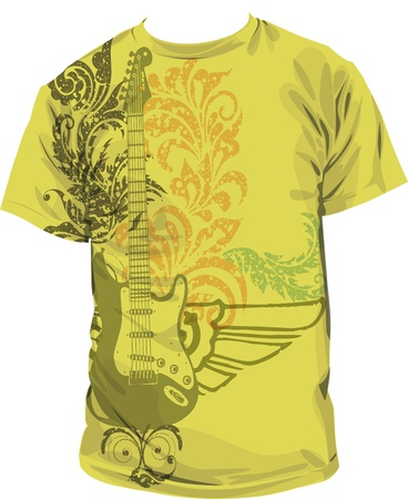 acoustic: tee illustration Illustration