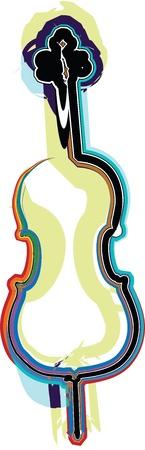 violoncello: music instrument vector illustration