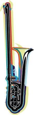 strident: music instrument vector illustration