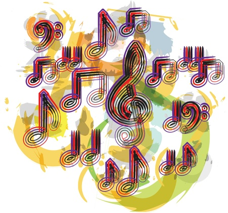 music notes vector: music notes vector illustration