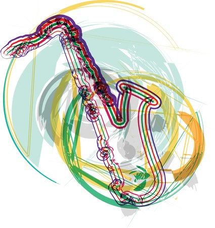 decibels: music instrument vector illustration