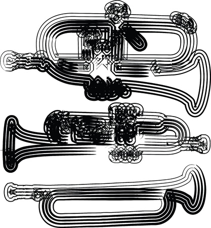 trombones: music instrument vector illustration