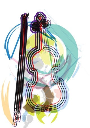 contra bass: music instrument vector illustration