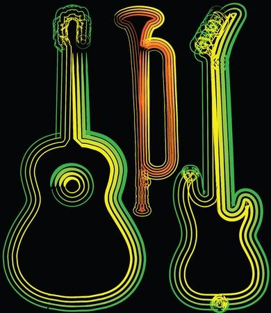 baritones: music instrument vector illustration