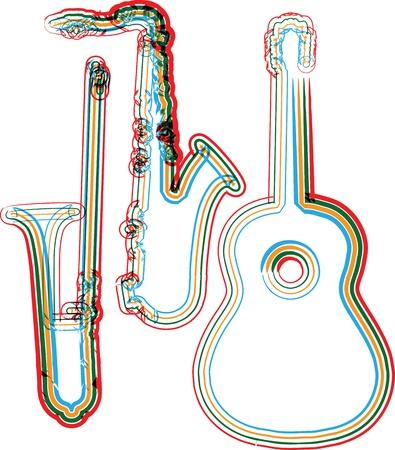 Illustration vectorielle instrument de musique Banque d'images - 11063375