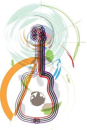 country music: music instrument vector illustration