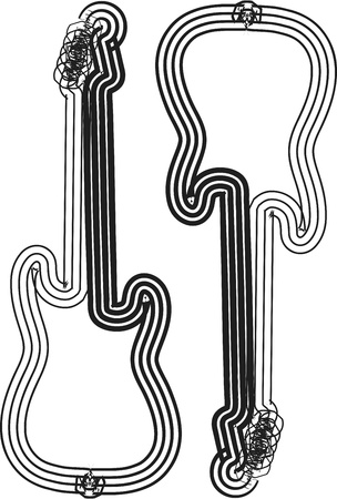 instrumental: music instrument vector illustration