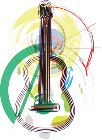 nylon: music instrument vector illustration