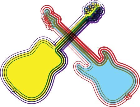 spanish ethnicity: music instrument vector illustration