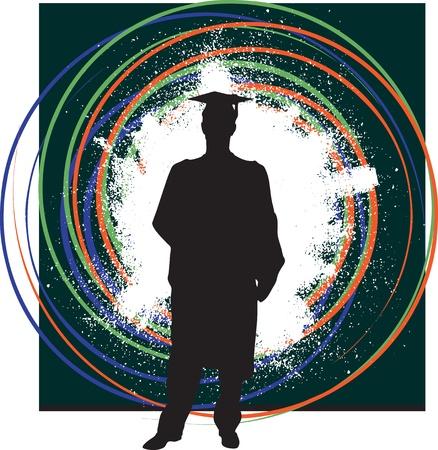 toga: School graduate illustration