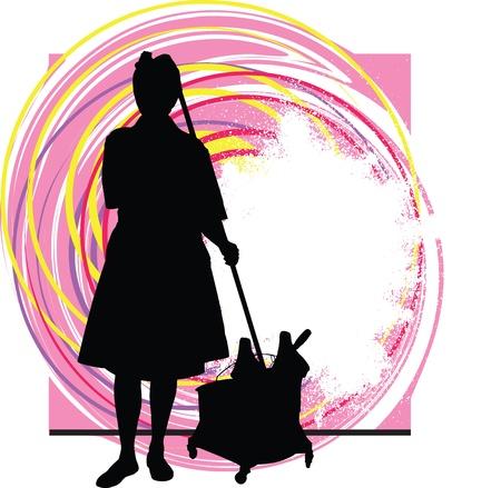 housekeeper: Housekeeper illustration Illustration