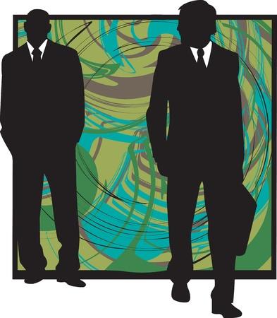 meet up: Businessmen illustration