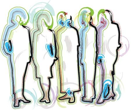 Empresarios ilustración