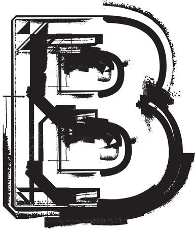 messy: Grunge font