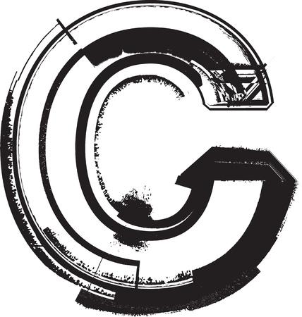 case: Grunge font