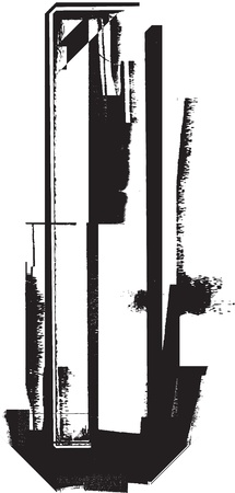 Grunge font Stock Vector - 11062926