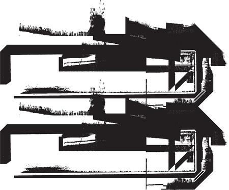 Grunge font Stock Vector - 11063265