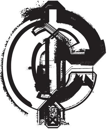 cent: Grunge font