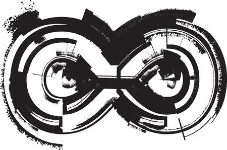 Grunge font Stock Vector - 11063317