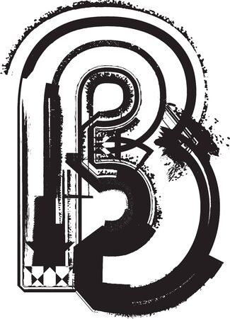 Grunge font Stock Vector - 11063075