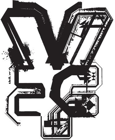 Grunge font Stock Vector - 11063052