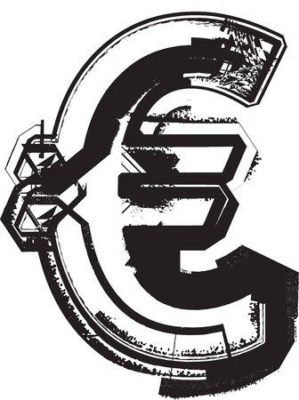 Grunge font Stock Vector - 11063078