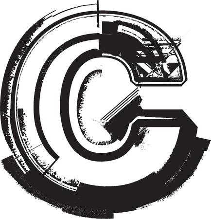 grunge brush: Grunge font