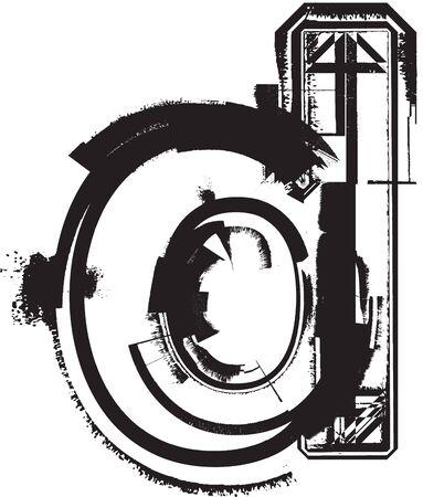 Grunge font Stock Vector - 11063289