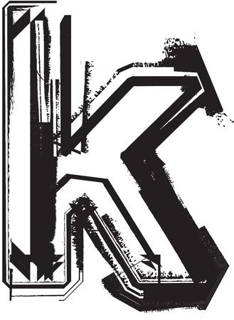 Grunge font Stock Vector - 11063026
