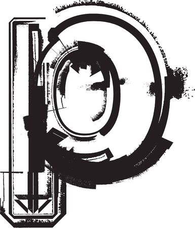 Grunge font Stock Vector - 11063290
