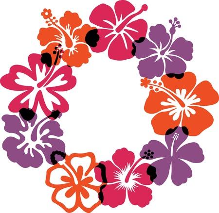 hawai: Ilustraciones flores abstractas