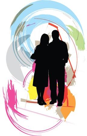 valentine married: Couple illustration
