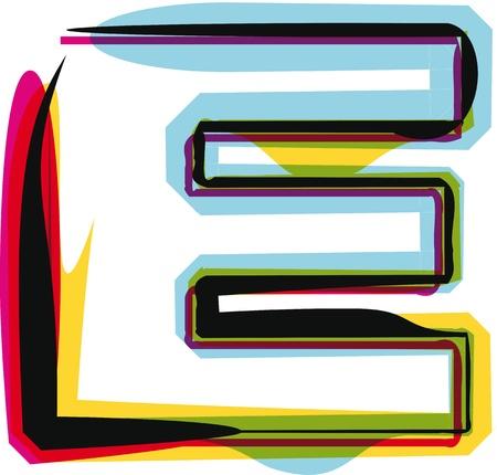 alphabet graffiti: Police color� Illustration
