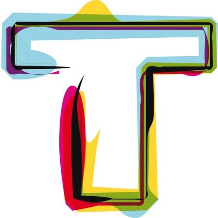 alfabeto graffiti: Carattere Colorful