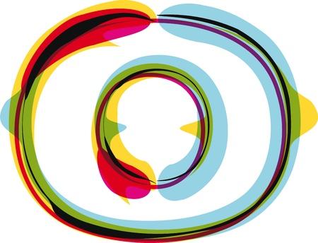 zero: Colorful font