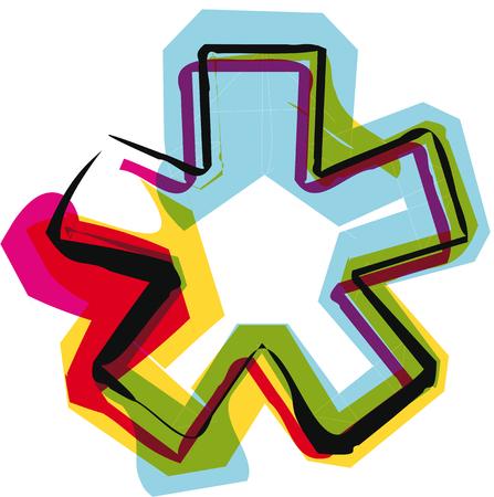 punctuation mark: Fuente de colores