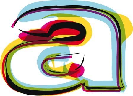alphabet graffiti: La fuente de colores