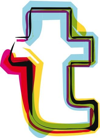 Kleurrijke lettertype