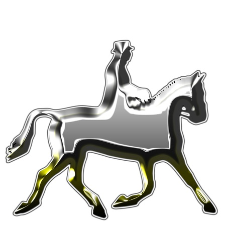 metal horses silhouettes illustration illustration