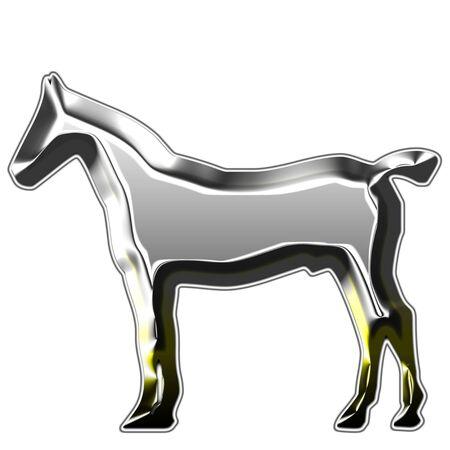 trotting: metal horses silhouettes illustration