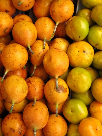grenadilla: Passion fruit and mandarin background