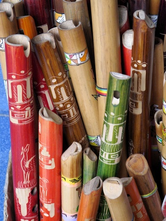 ancient colorful wooden flute Stock Photo - 11195956