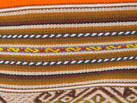 South America Indian woven fabrics photo