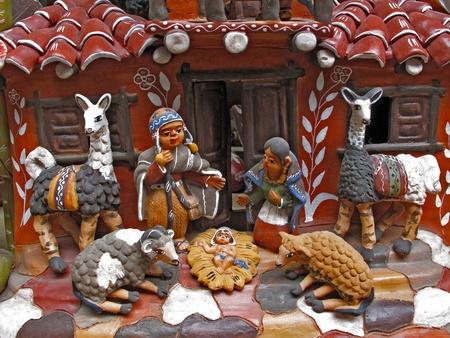 Ancient ceramic sculptures photo